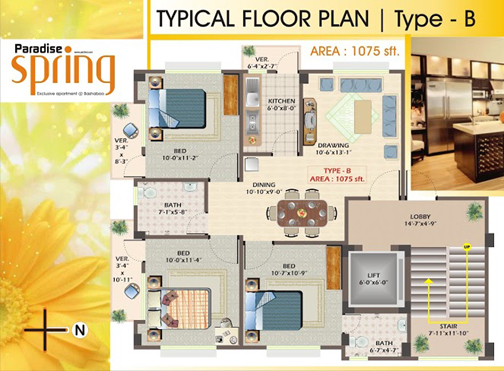 Typical Floor Plan-B